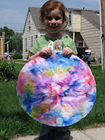Willa with her Color Mandala